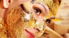 masca faciala din aur